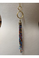 Ten Thousand Villages Beaded Tassle Necklace