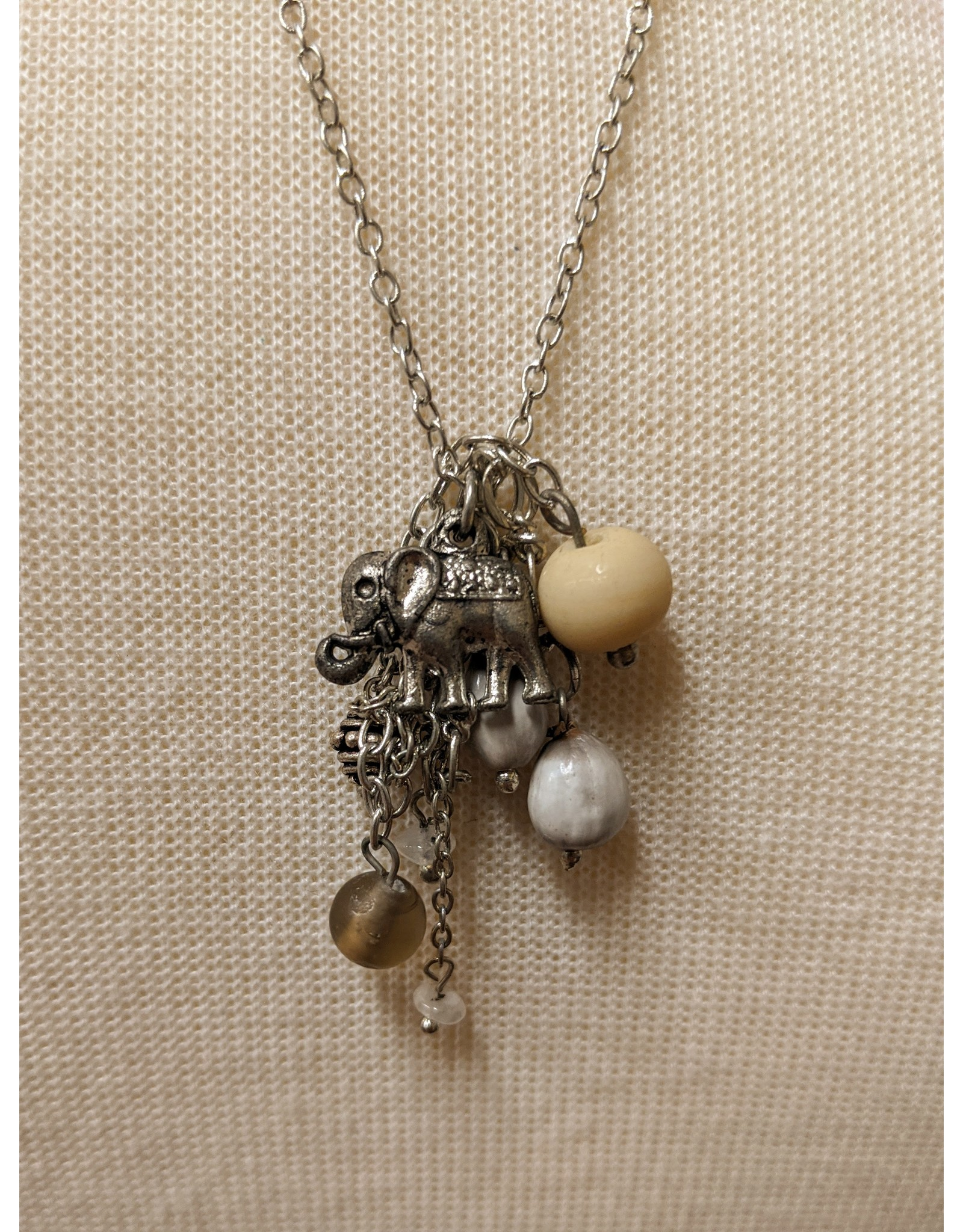 Ten Thousand Villages Elephant Charm Pendant Necklace