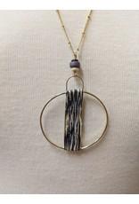Ten Thousand Villages Circle Pendant Necklace