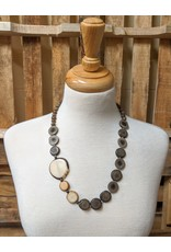 Ten Thousand Villages Asymmetrical Tagua Necklace