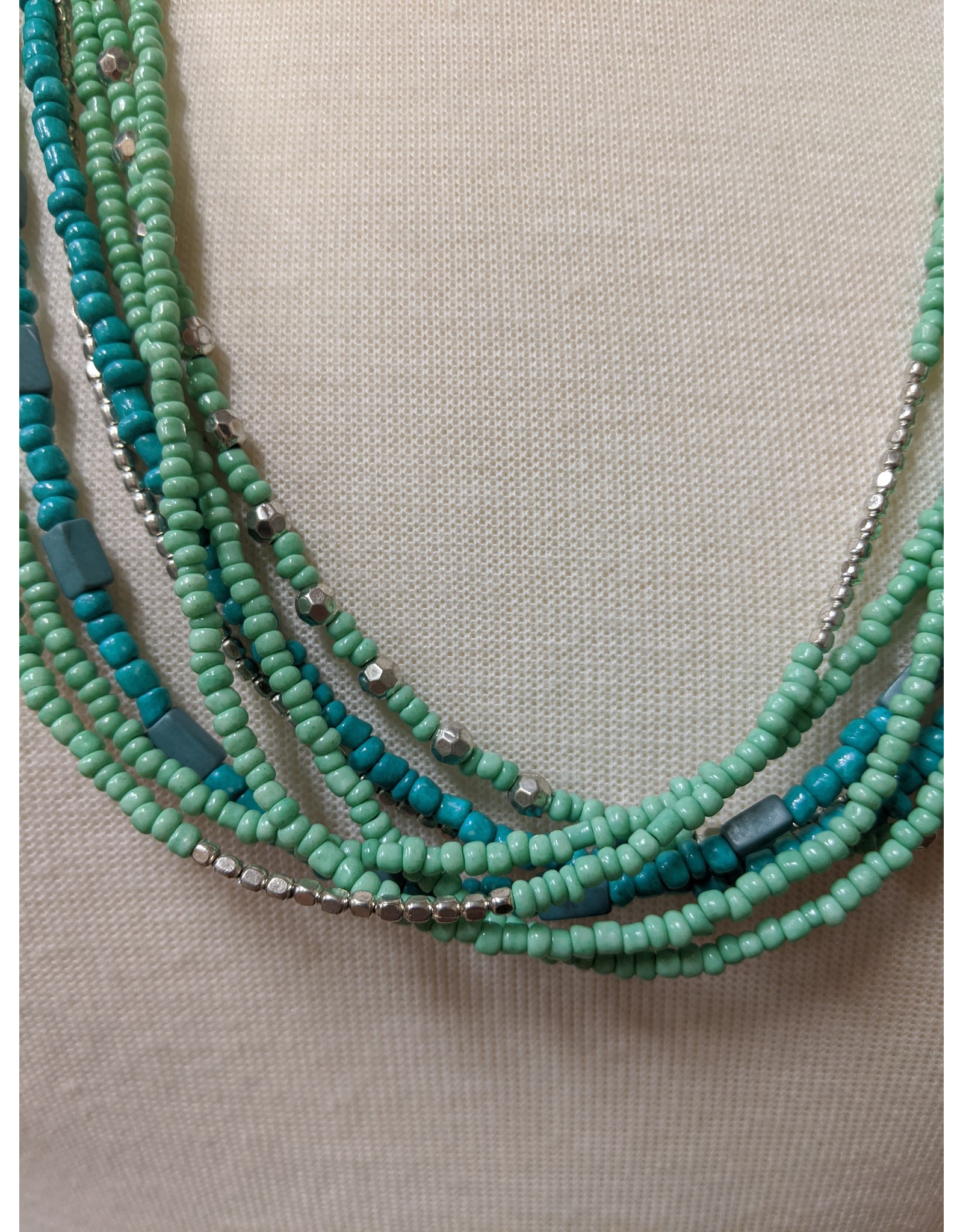 Ten Thousand Villages Teal Appeal Necklace