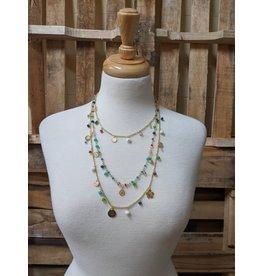 Ten Thousand Villages Three Strand Beaded Necklace