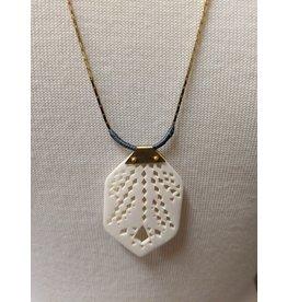 Ten Thousand Villages Bone Pendant Necklace