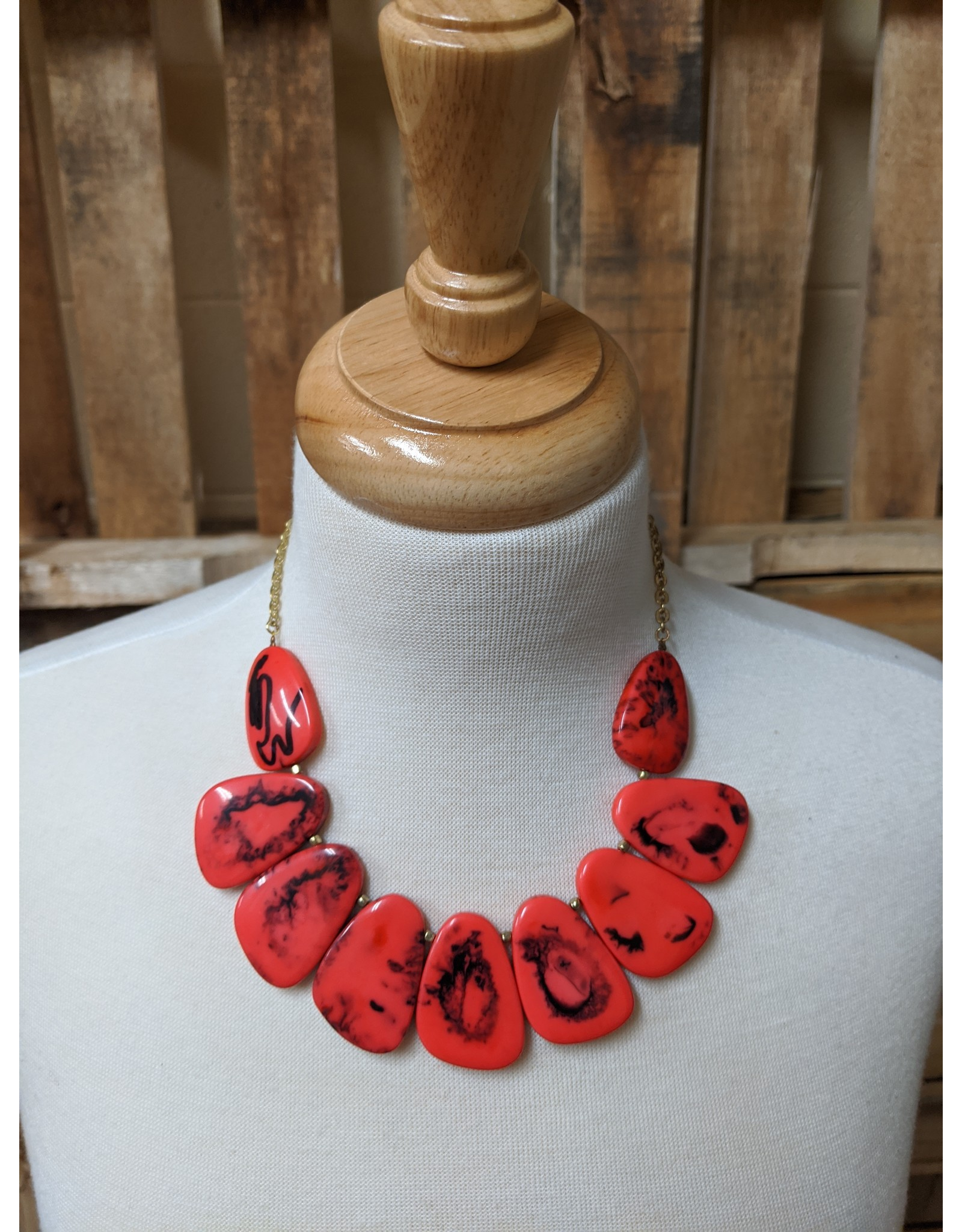 Ten Thousand Villages Red Riot Necklace