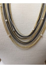Ten Thousand Villages Multi-strand Black Bead Necklace