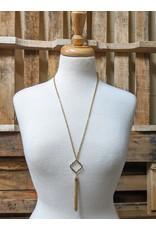Ten Thousand Villages Gold Tassel Necklace