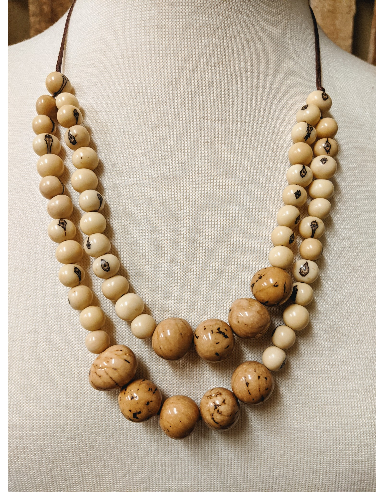 Ten Thousand Villages Tagua Beaded Necklace