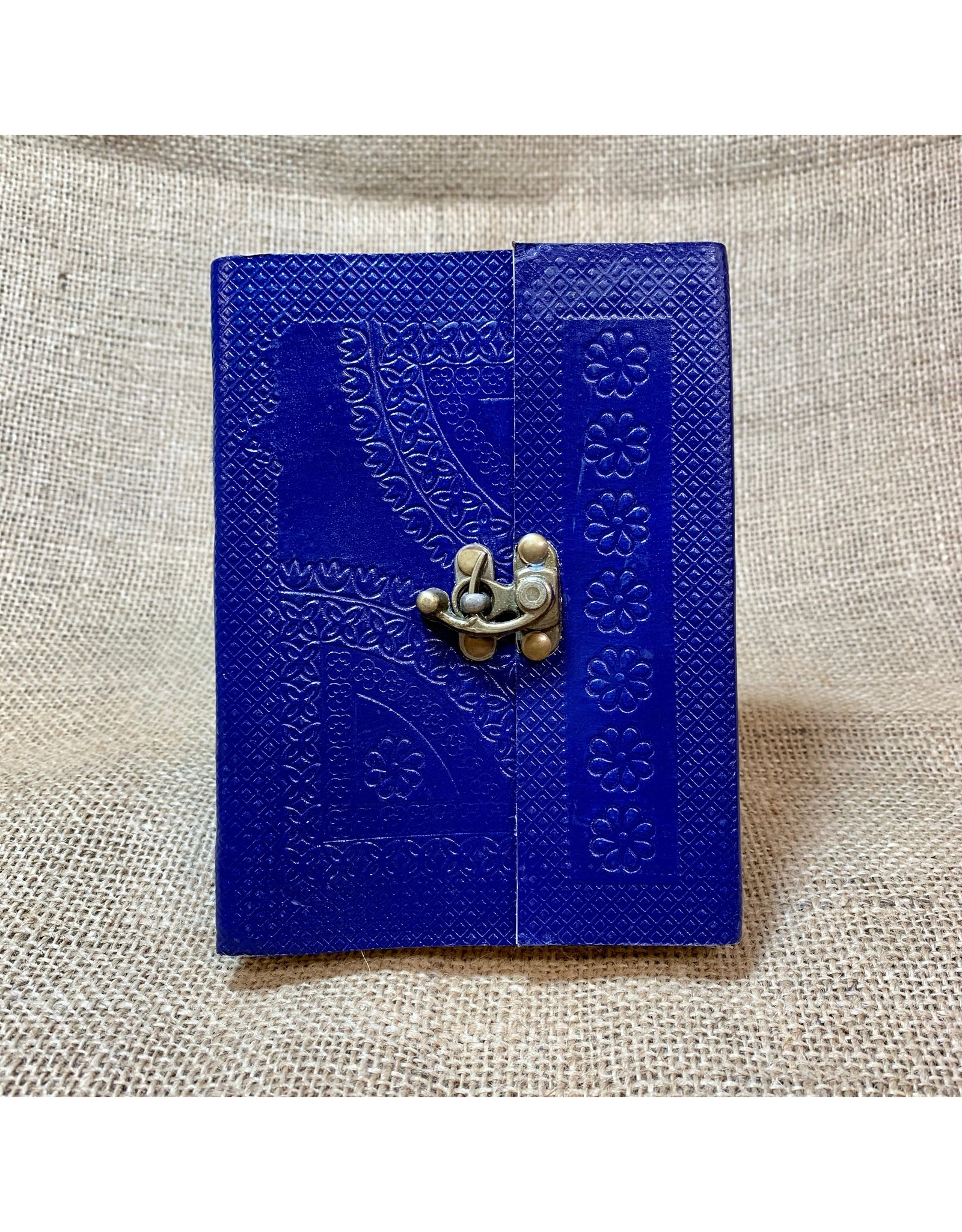 Ten Thousand Villages Blue Beauty Embossed Journal