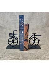 Ten Thousand Villages Bookends Bicycle black Metal 2 pces