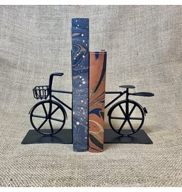 Ten Thousand Villages Bookends Bicycle black Metal 2 pces