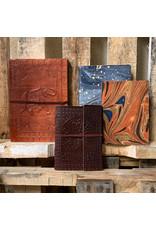 Ten Thousand Villages Orange Leather Journal