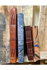 Ten Thousand Villages Blue Leather Journal