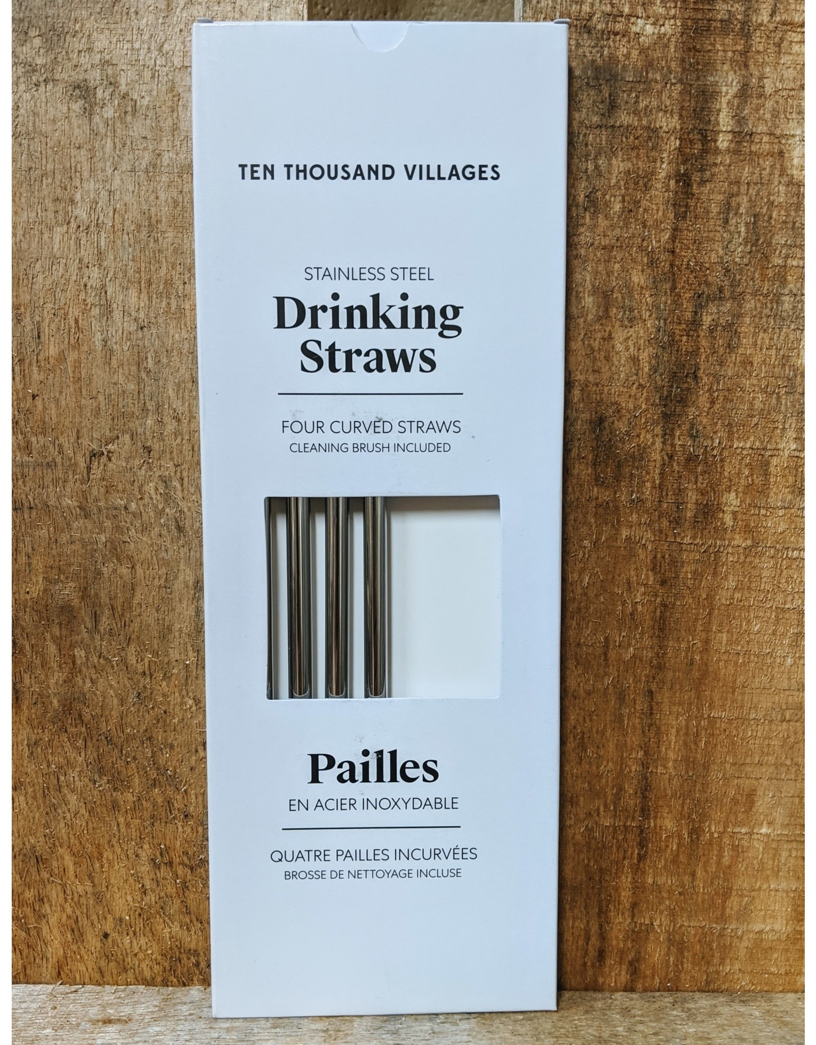 Ten Thousand Villages CLEARANCE Reusable Drinking Straw Set of 4, India