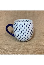 Ten Thousand Villages Rain Drop Ceramic Mug