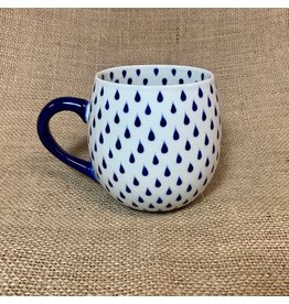 Ten Thousand Villages Raindrop Ceramic Mug, 14oz/400ml, Vietnam