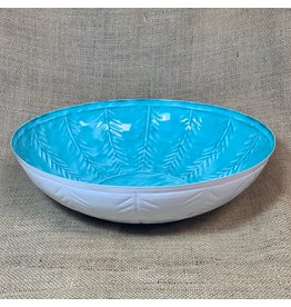 "Ten Thousand Villages CLEARANCE Turquoise Bowl, 14""/36cm D, India"