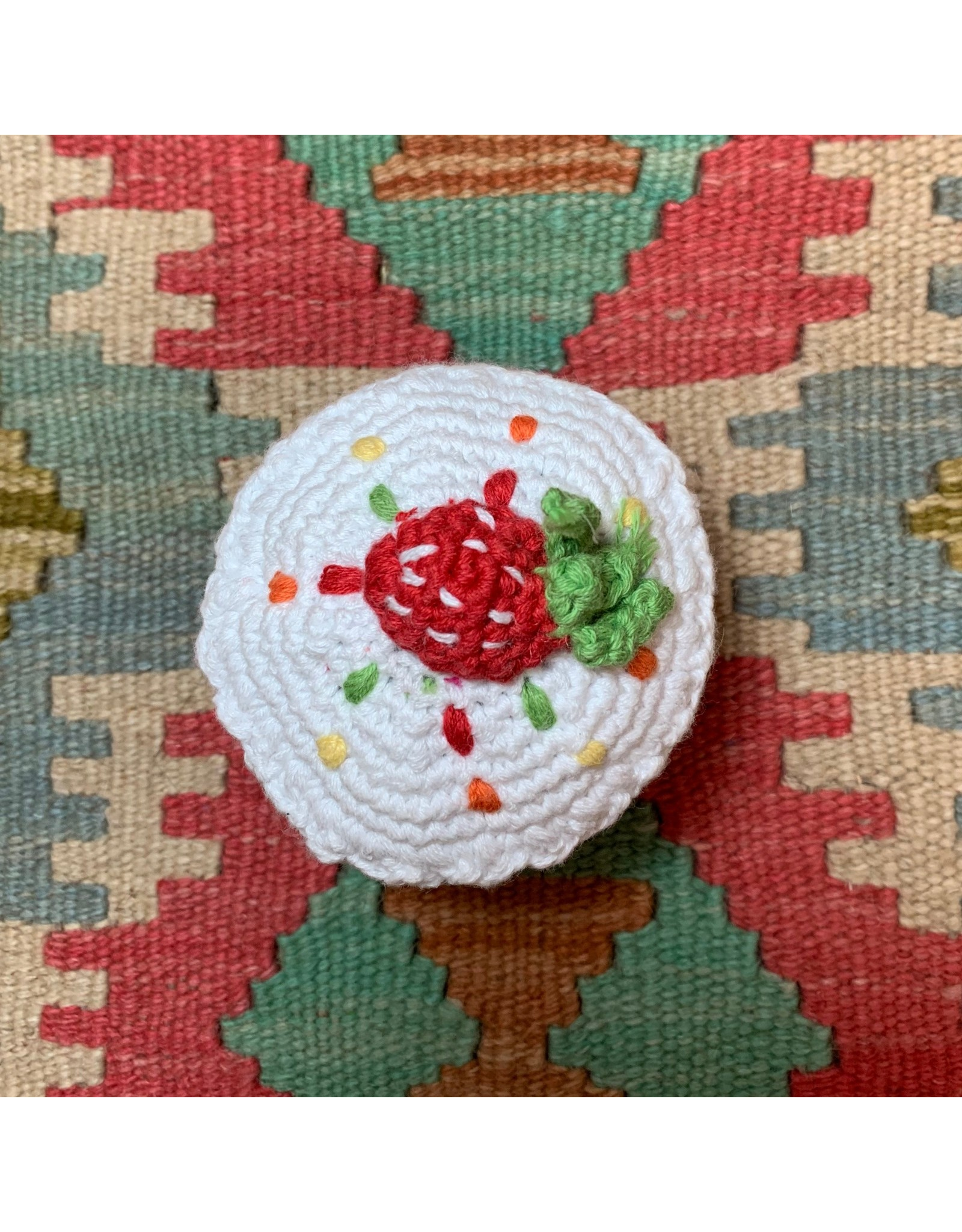 Rattle, Friendly Cupcake w/ Berry