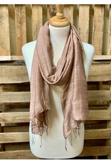 Ten Thousand Villages Taupe Silk Scarf
