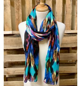 Ten Thousand Villages Rainbow River Ikat Scarf