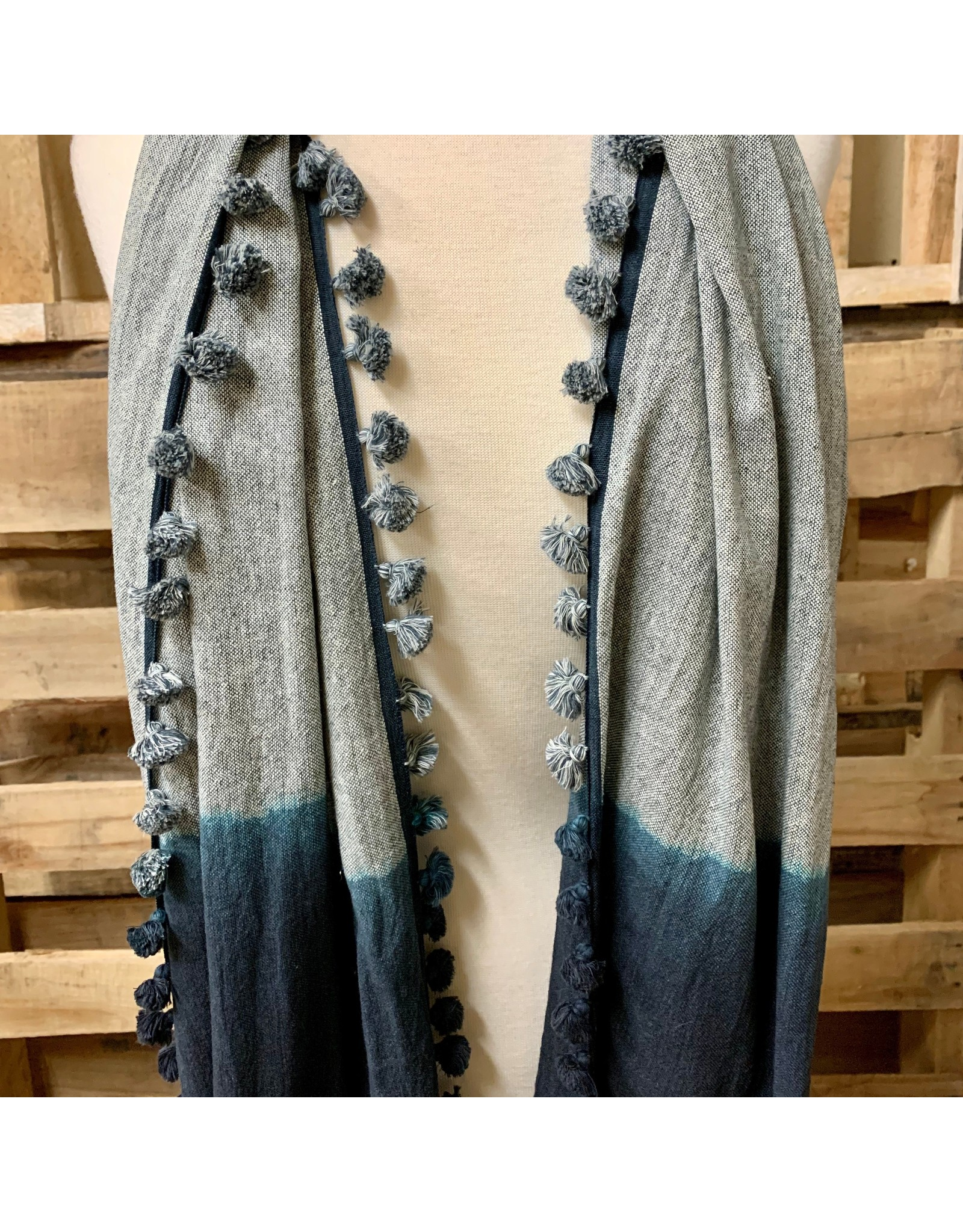 Ten Thousand Villages Pom-Pom Ombre Scarf