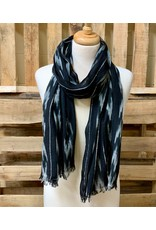 Ten Thousand Villages Black and Grey Ikat Scarf