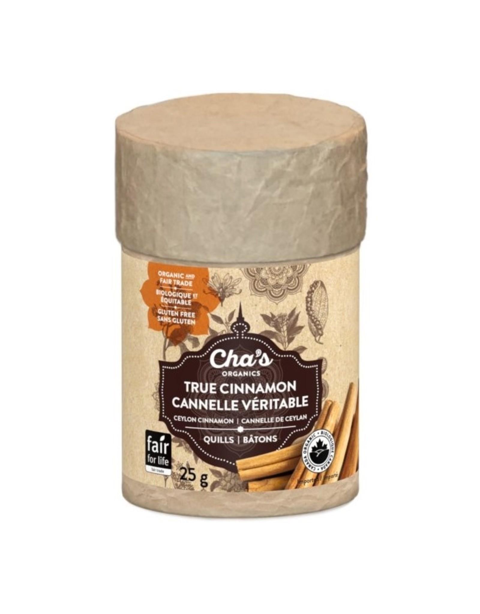 Cha's Organics Cha's True Cinnamon Quills (25g)