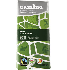 Camino Camino Mint 67% dark choc bar 100g