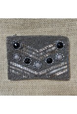 Ten Thousand Villages CLEARANCE Grey Coin Purse, India