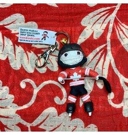 Ten Thousand Villages Team Canada Hockey Player Keychain