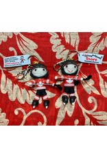 Ten Thousand Villages Team Canada Hockey Player Keychain