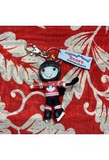 Ten Thousand Villages Team Canada Hockey Player Keychain (with braid)