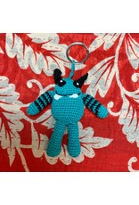 Ten Thousand Villages Crocheted Monster Zipper Pull - Teal