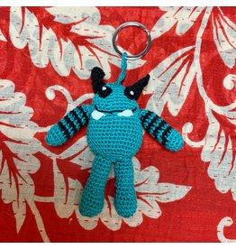 Ten Thousand Villages Crocheted Monster Zipper Pull - Teal