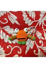 Ten Thousand Villages Crocheted Monster Zipper Pull - Orange