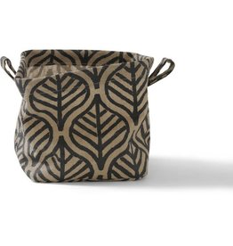 Ten Thousand Villages Basket Natural/Black Jute Large