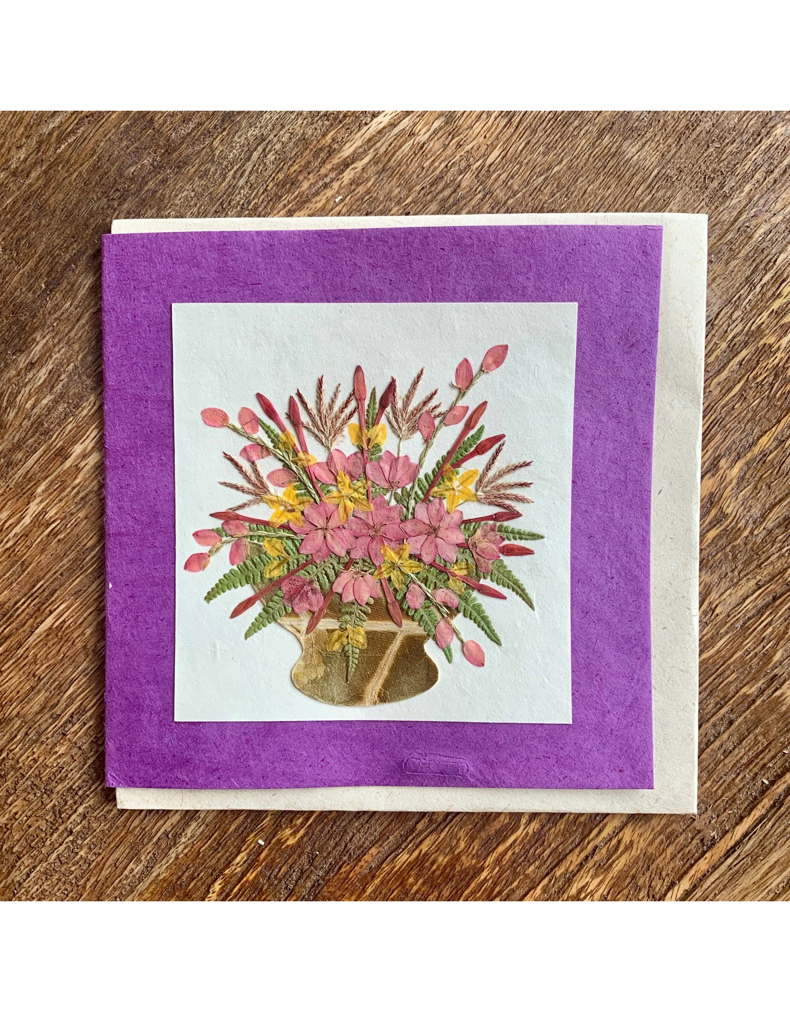 Ten Thousand Villages Bouquet of Flowers Greeting Card