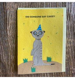 Ten Thousand Villages Meerkat Birthday Card