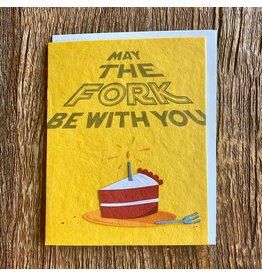 Ten Thousand Villages May The Fork Birthday Card