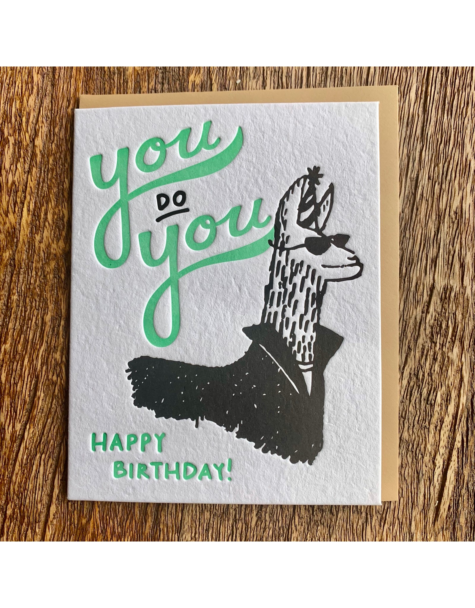 Ten Thousand Villages Llama Birthday Card