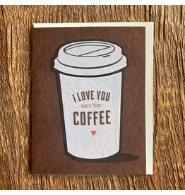 Good Paper Coffee Greeting Card