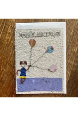 Ten Thousand Villages Balloon Birthday Card
