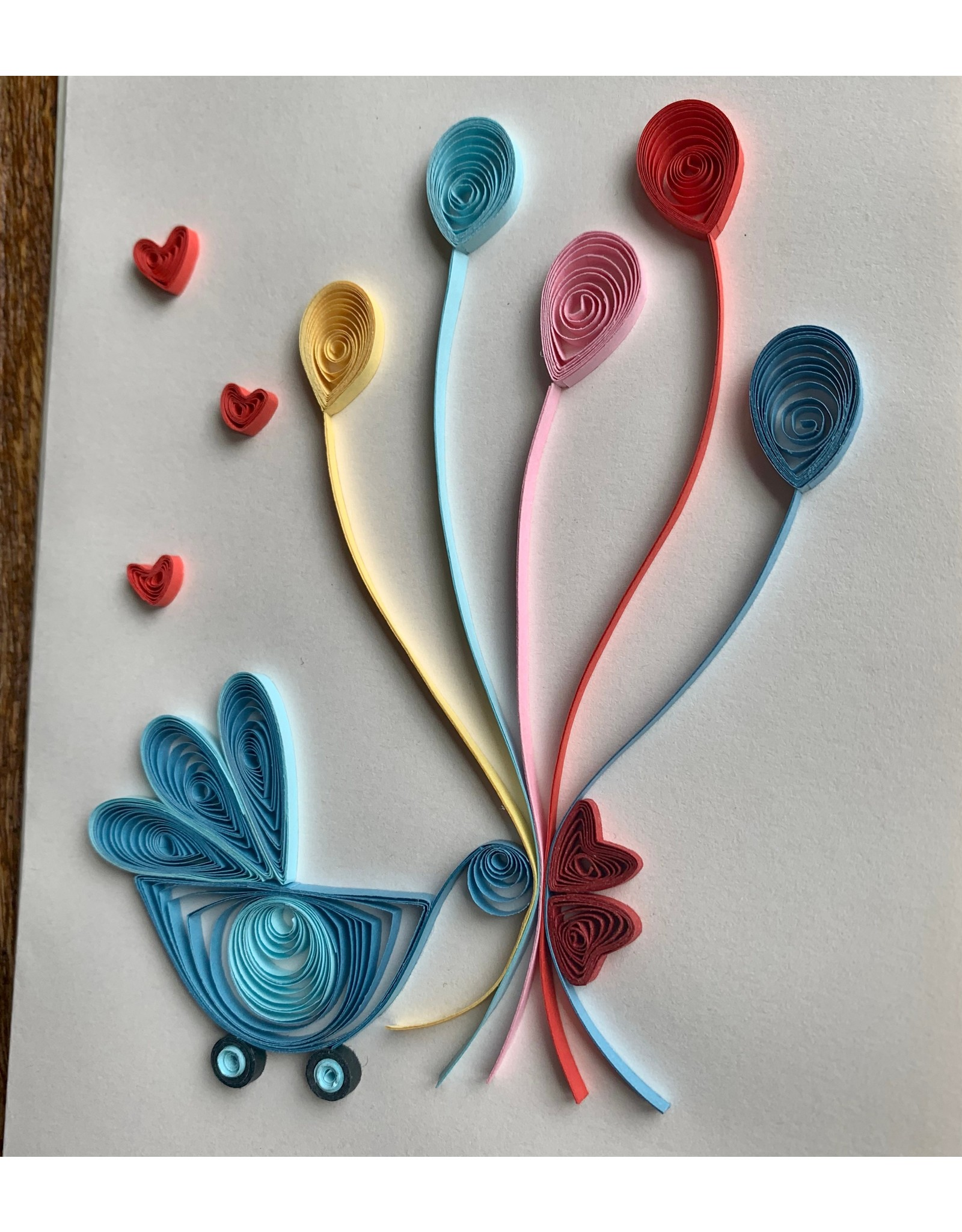 Ten Thousand Villages Welcome Baby Quilled Greeting Card