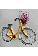 Ten Thousand Villages Quilled Bicycle Greeting Card