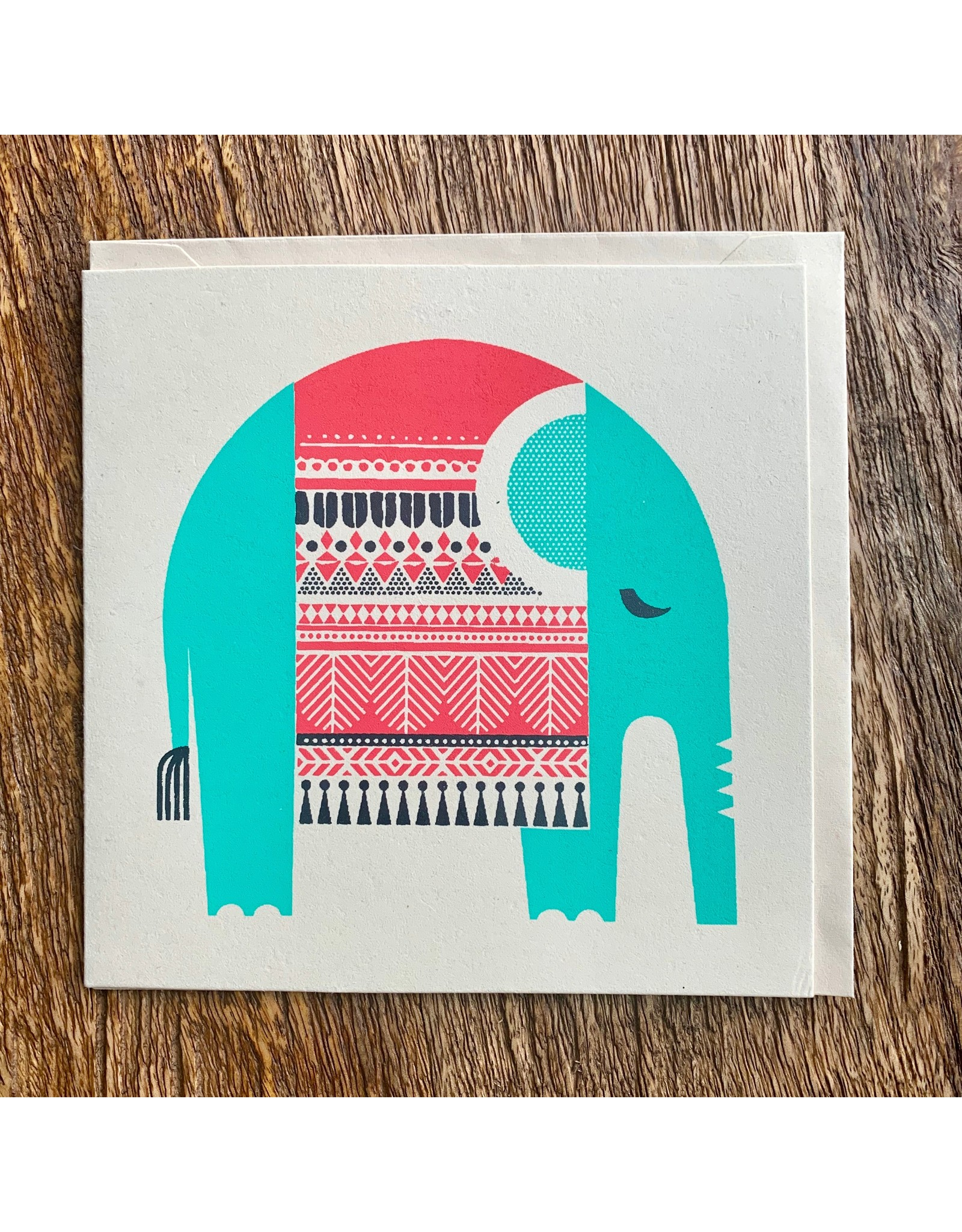 Ten Thousand Villages Resting Elephant Card