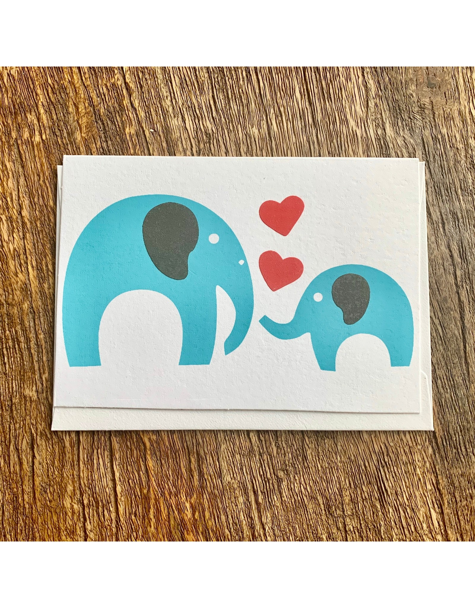 Ten Thousand Villages Loving Heart Elephant Card