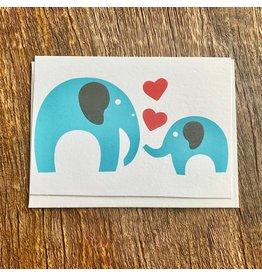 Ten Thousand Villages Loving Heart Elephant Card