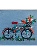 Ten Thousand Villages Stitched Bicycle Card