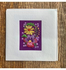 Ten Thousand Villages Greeting Card with Flowers