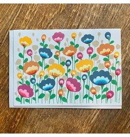 Ten Thousand Villages Field Of Flowers Card