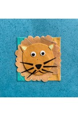 Ten Thousand Villages Friendly Lion Greeting Card